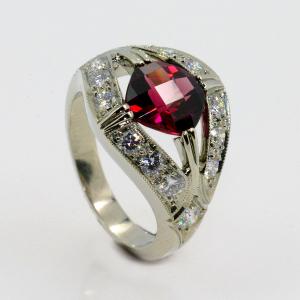 Rhodalite Garnet Ring