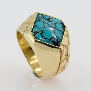 Spider Web Turquoise Ring